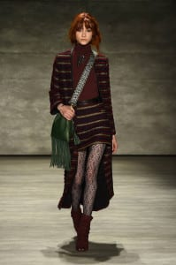 A model walks the runway at the Rebecca Minkoff fashion show with TRESemme during Mercedes-Benz Fashion Week Fall 2015 at The Pavilion at Lincoln Center on February 13, 2015 in New York City.