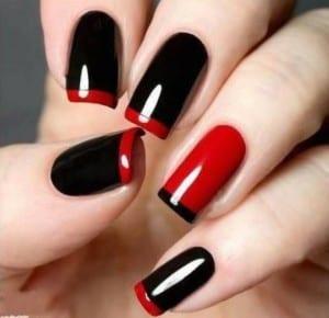nail-art-rossa-e-nera