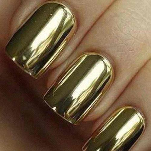 Nail-art-effetto-specchio-2015-colore-oro