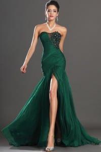 Vestido-De-Renda-Side-Slit-New-Floor-Length-Gown-font-b-Emerald-b-font-Appliques-Sweet