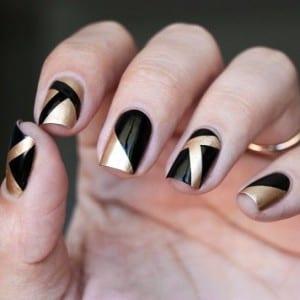 manicure-per-capodanno-in-nero-e-oro