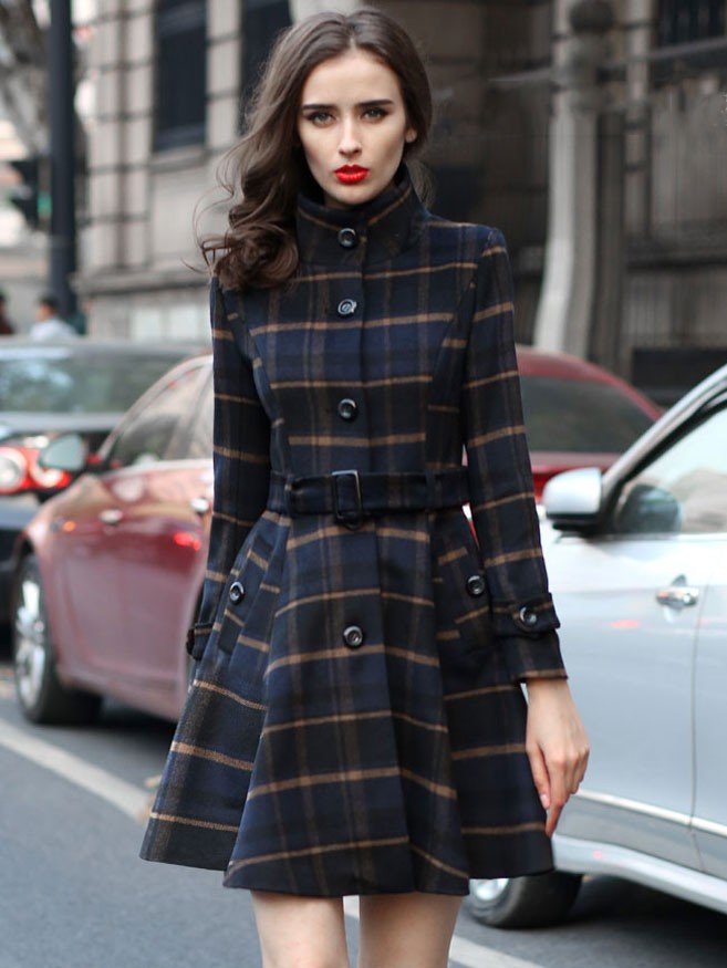 british-style-blue-plaid-belted-woolen-coat-autumn-winter-women-stand-collar-single-breasted-clothing1