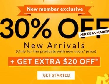 New Member Exclusive Off from Rosegal