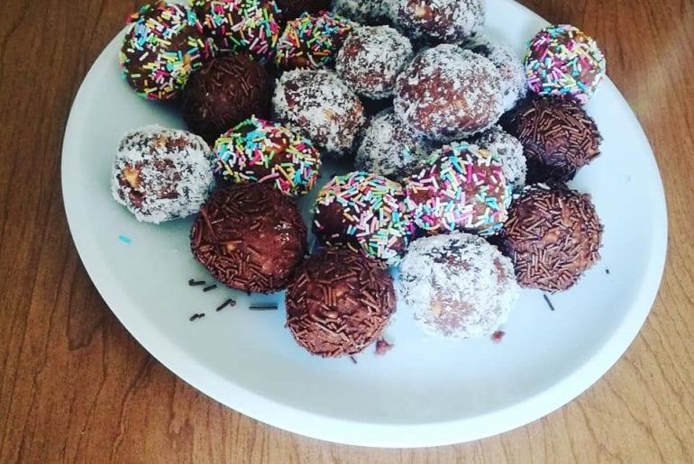 palline cacao e cocco